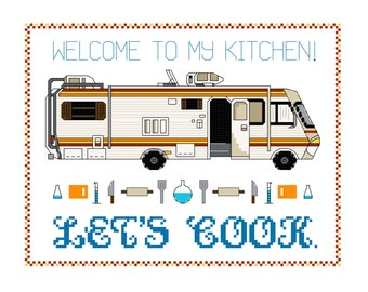 Cross Stitch Pattern -- Let's cook RV plus bonus mini pattern