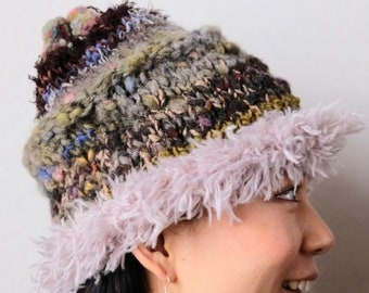 2191e3fb898 One of a kind Colorful Knitted Wool Pixie Beanie Hat