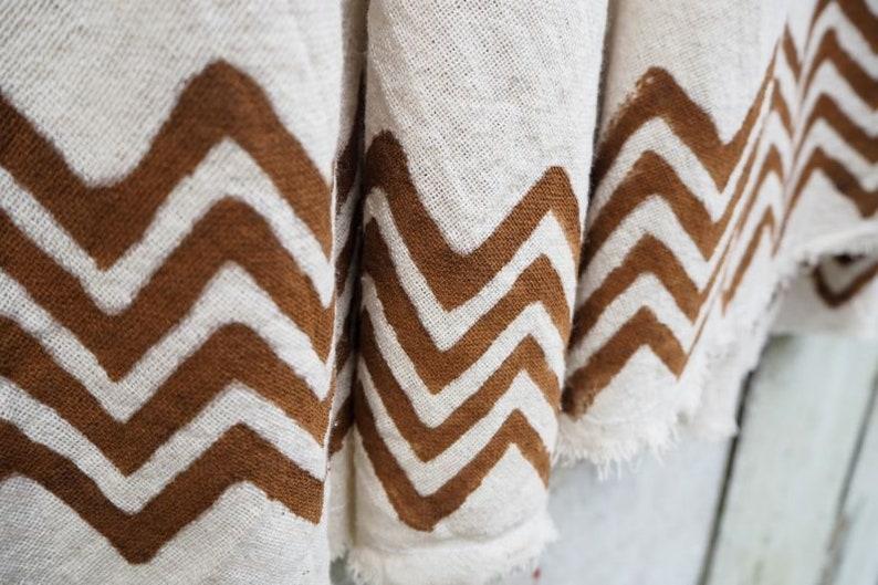 Earthy Manu Wrap Skirt with Tribal Block Print tribal skirt festival clothing maxi wrap skirt block print skirt Cotton Wrap Skirt
