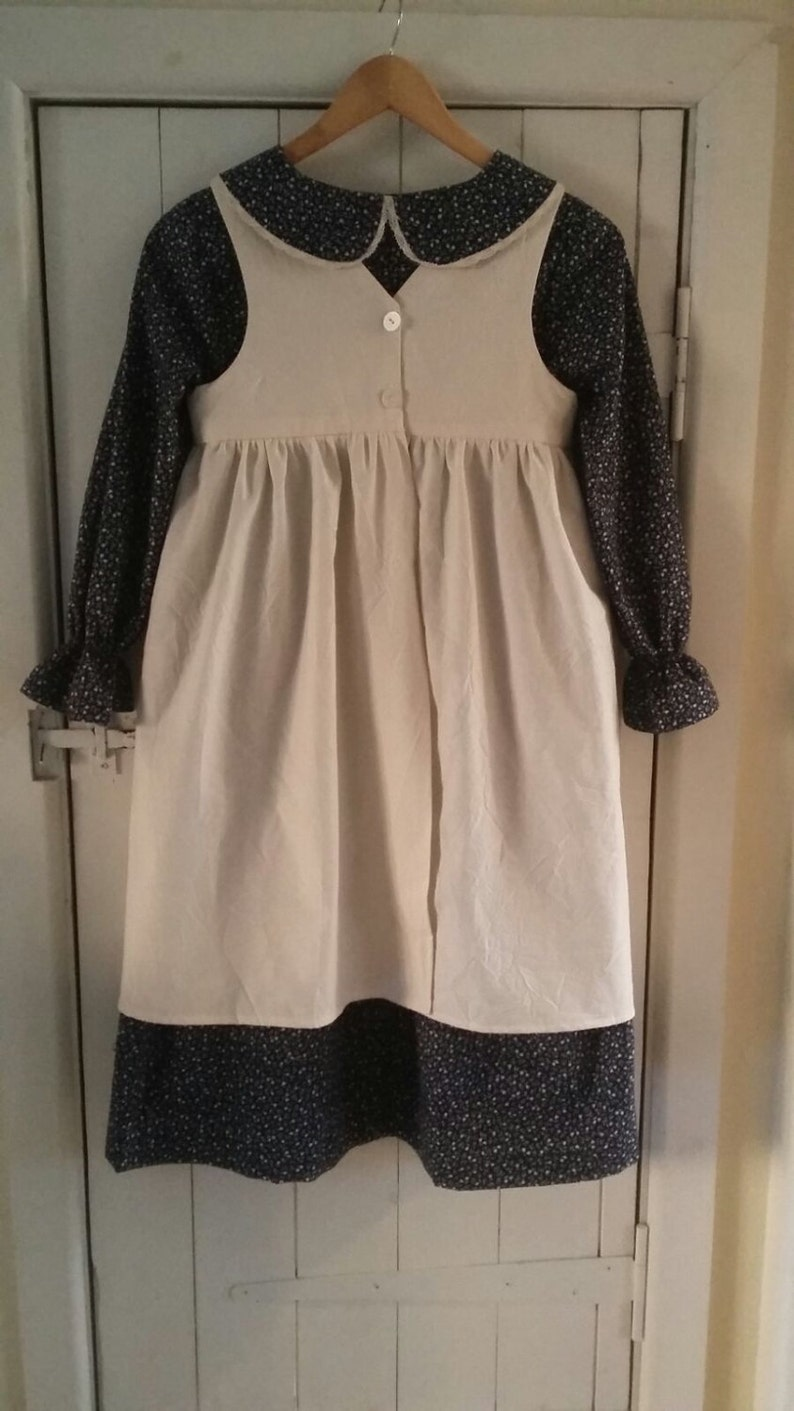 Girl/'s Victorian folk costume  /'little house on the Prairie/' style dress and apron