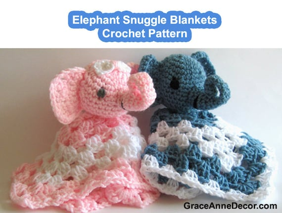 Crochet Pattern Baby Blanket Snuggle Amigurumi Security Lovey Etsy
