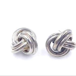 Vintage  E-8083a-110819015 Definately a Big WoWzer Sterling Pierced Earrings