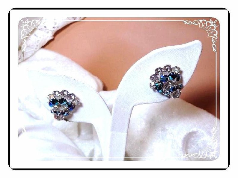Stunning Princess /'V/' Shape Choker Juliana Blue Set Vintage Juliana  Demi Spectacular Blue Dancing Globes  Demi-950a-051219085