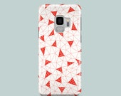 Red Triangles Samsung Galaxy S10 case  / abstract Samsung Galaxy S9 case / Samsung Galaxy S8, Samsung Galaxy S7 / Samsung S6 case