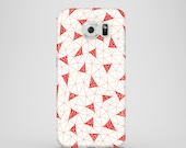 Red Triangles Samsung Galaxy S8 case  / abstract Samsung Galaxy S9 case / Samsung Galaxy S6 Edge, Samsung Galaxy S7 / illustrated case