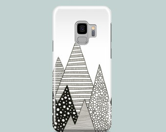 Lost in Mountains Samsung S10 case, Samsung S9, Samsung S8, Samsung S7, graphic iPhone SE 2020 case, iPhone 11 Pro, iPhone XR, iPhone 8