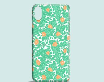 Berries and Mint phone case, iPhone X, iPhone 8, iPhone 7, 7 Plus, iPhone SE, iPhone 6/6S, iPhone 5S, iPhone 5, illustrated mint phone case