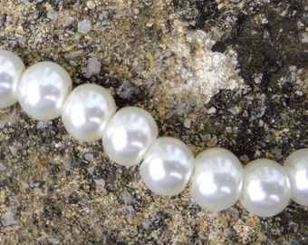 6mm Ivory Glass Pearl Beads, glass pearls,  Ivory glass beads, Jewellery making, craft supplies