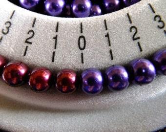 8mm Purple glass Pearls, 6mm purple beads, glass pearls, Jewellery making, craft supplies