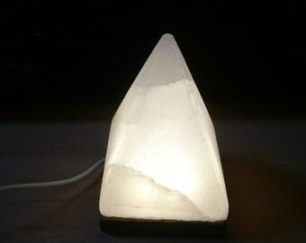 Himalayan usb lamp, salt lamp, Himalayan products, salt lamps, healing energy, Himalayan white salt pyramid lamp, gift for her, new home