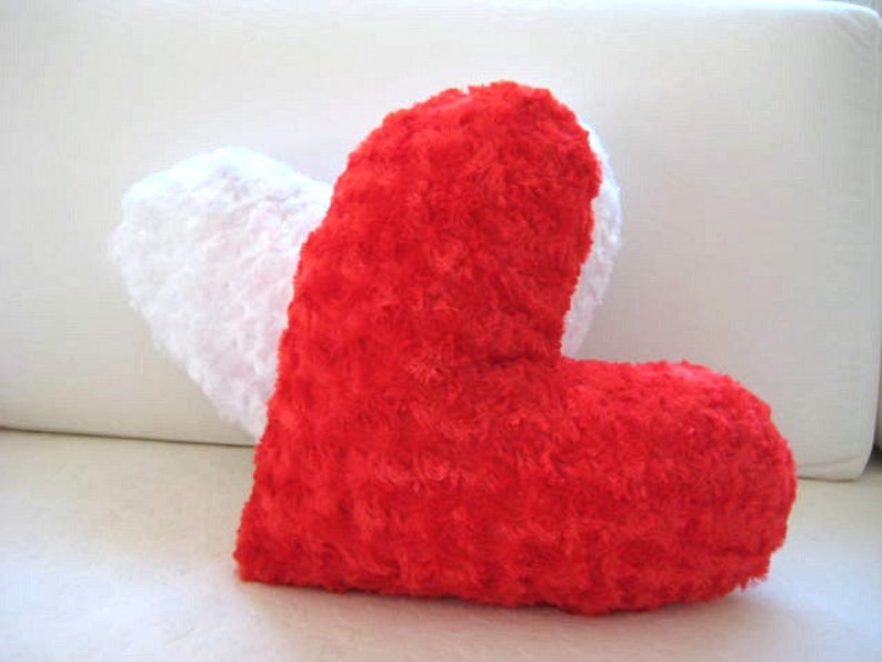Love Hearts  Red Heart Pillow  17x15.5  Gift for Her image 0