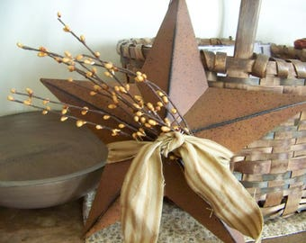 "Rusty Barn Star 12"" Primitve Fall Decor Hanger"