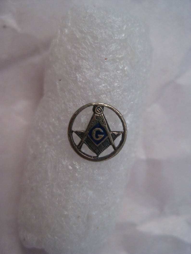 1b2787b654d4 Masonic 14K Solid Gold Pin Tie Tack Lapel Vintage Enamel Karat | Etsy