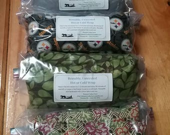 Unscented Heating or Cooling Wrap, All-Natural Rice Bag. Reusable and Earth Friendly!