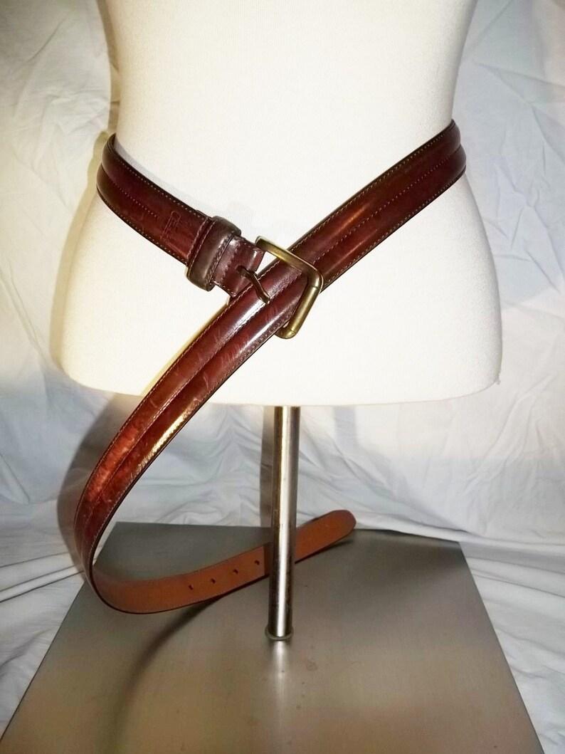 09918dc8 Men Belt Classic Chaps (Ralph Lauren) Belt Brown Leather Belt w/ Brass  Buckle Vintage Belt Free Shipping Envio Gratis