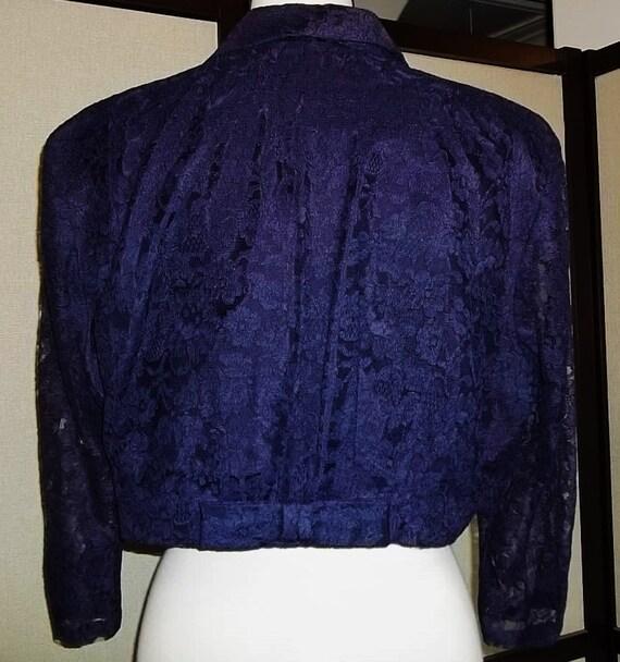 Women Jacket 40's Lace Waist Jacket Lace Bolero J… - image 4