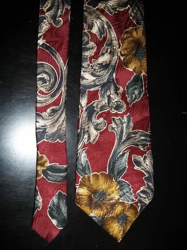 Men Tie Oscar De La Renta Necktie 100/% Silk Tie De La Renta Designer SILK Tie Vintage Tie  Free Shipping