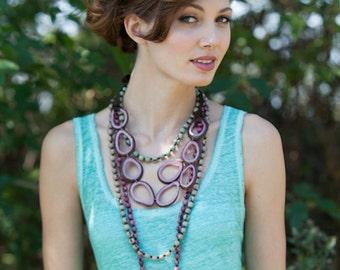 Tagua Statement Necklace / Tagua Jewelry / Tagua Necklace / Statement Necklace / Fair Trade / Tagua Nut Jewelry / Geometric Shape Necklace