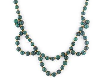 Acai Seed Necklace / Collar Necklace / Bib Necklace / Peacock Green Necklace / Acai Seed Jewelry / Acai Necklace / Fair Trade / Acai Jewelry