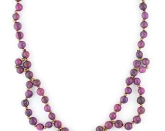 SALE 30% Off / Acai Seed Necklace / Collar Necklace / Bib Necklace / Violet Necklace / Acai Seed Jewelry / Acai Necklace