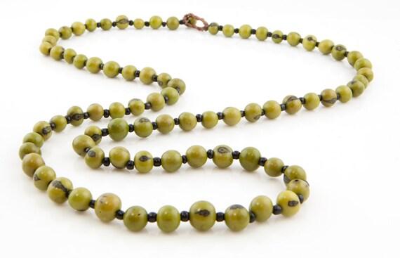 Acai Seed Necklace  Long Necklace  Acai Seed Jewelry  Seed Jewelry  Fair Trade  Long Layering Necklace  Acai Necklace