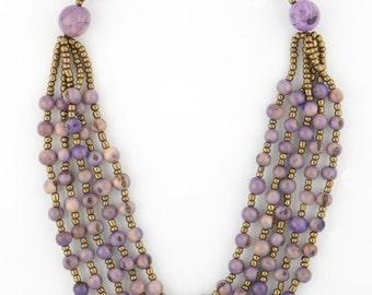 Acai Seed Necklace / Acai Jewelry / Seed Necklace / Seed Jewelry / Lavender Necklace / Acai Statement Necklace / Fair Trade Jewelry