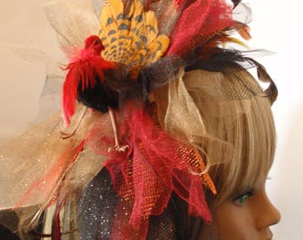 Happy Thanksgiving Fascinator Gobble Gobble