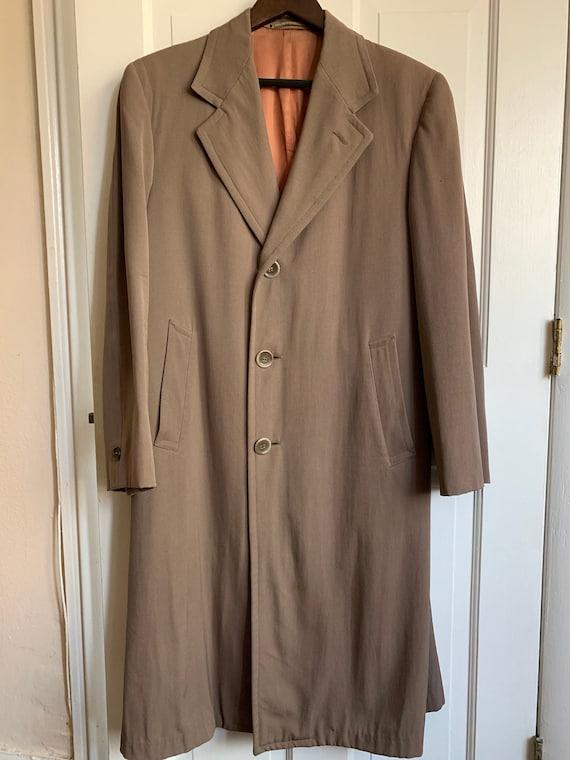 Vintage Men's wool gabardine overcoat. 1940'-1950'
