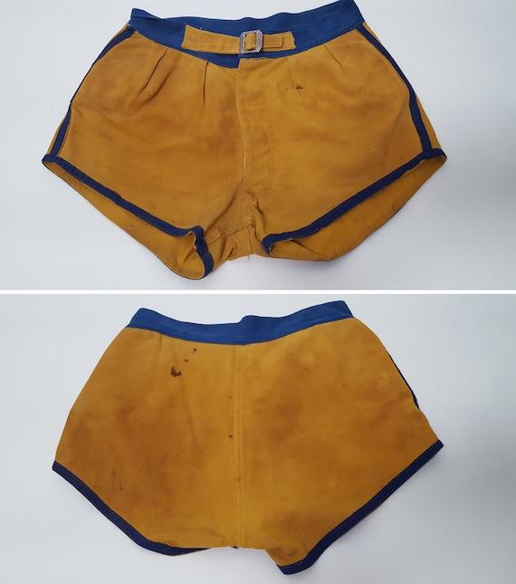 vintage 1930s Men's Cotton Basketball Shorts- Gym… - image 5