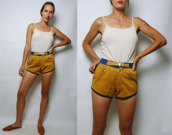 vintage 1930s Men's Cotton Basketball Shorts- Gym