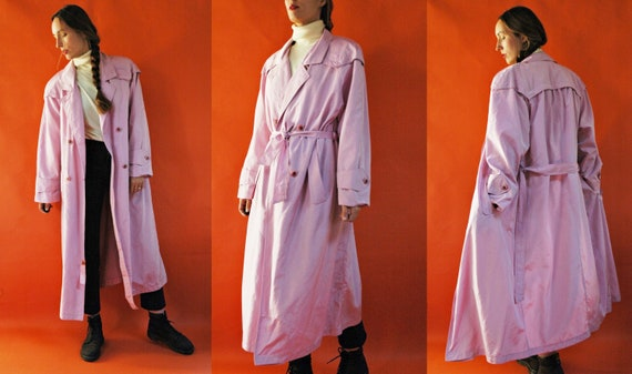 vintage 1980s Purple Pink Mauve Lightweight Double
