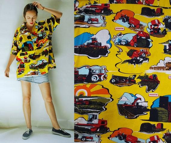 vintage 1960s Kawika of Hawaii Barkcloth Novelty P