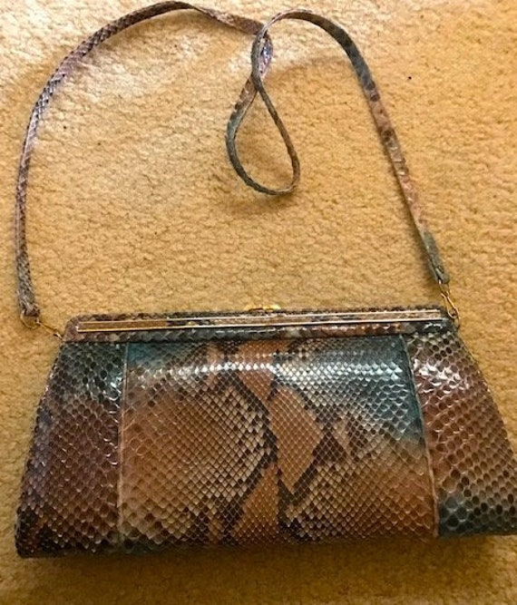 snakeskin purse made in spain
