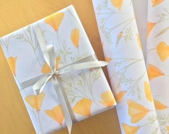 California Poppy Wrapping Paper