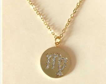 SALE Zodiac Astrological Sign Necklaces