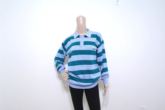 Vintage Striped Chemise Lacoste Sweater, 1970s Izo