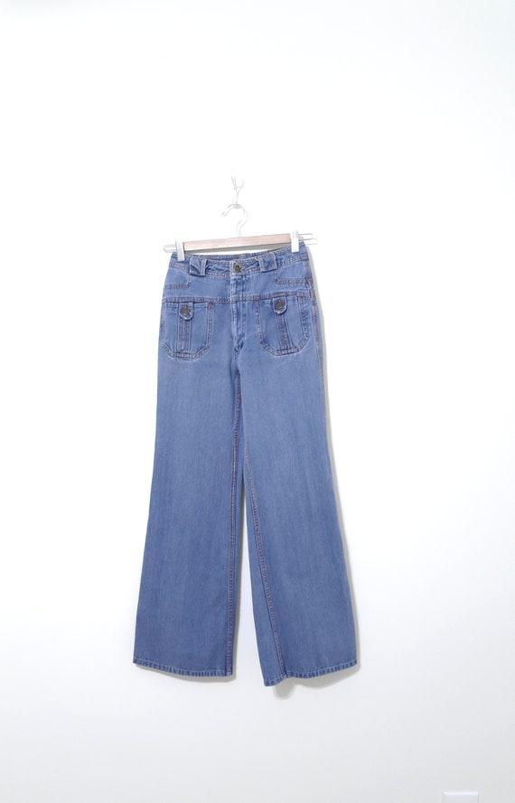 """Vintage N'est Ce Pas? Jeans, 22"""" Waist, 1970s Bel… - image 2"""