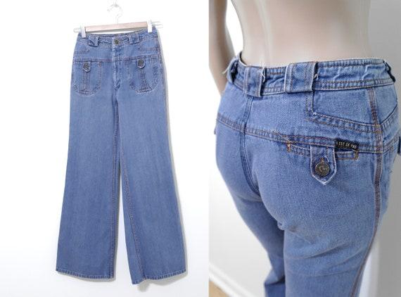 """Vintage N'est Ce Pas? Jeans, 22"""" Waist, 1970s Bell"""