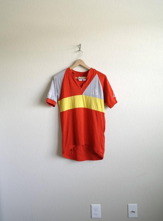Vintage Le Coq Sportif Cycling Shirt 80s Cycling Shirt Red  db12d3cff