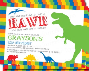 dinosaur printable thank you note card instant download diy etsy