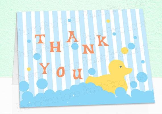 photograph regarding Rubber Ducky Printable referred to as Rubber Ducky Printable Thank By yourself Be aware Card, Instantaneous Obtain