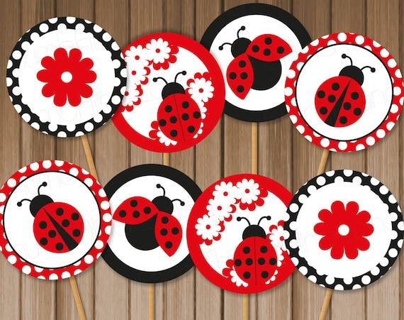 photo regarding Ladybug Printable titled Ladybug Printable Cupcake Toppers, Fast Down load - Electronic Record, Printable, Do it yourself