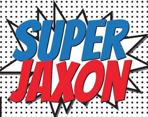 Photography Prop Banner Custom Name,Birthday Party Prop Printable Superhero Backdrop 6ft x 4ft Super Heroes