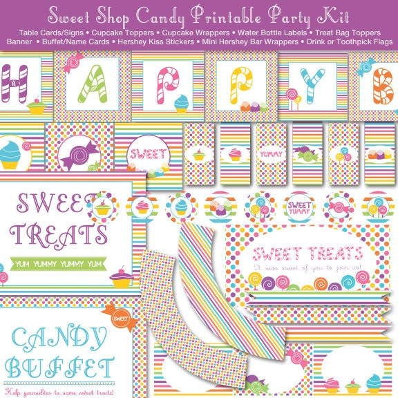 photograph regarding Printable Candyland Cards known as Cute Retail outlet Sweet Land Printable Bash Package, Instantaneous Obtain - Birthday Social gathering - Electronic Report, PRINTABLE, D.I.Y.