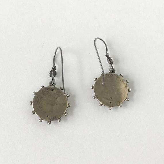 Vintage Earring, Victorian Flower Earrings Silver… - image 4