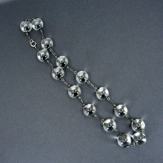 Art Deco Pools of Light Rock Crystal Necklace Ste… - image 5
