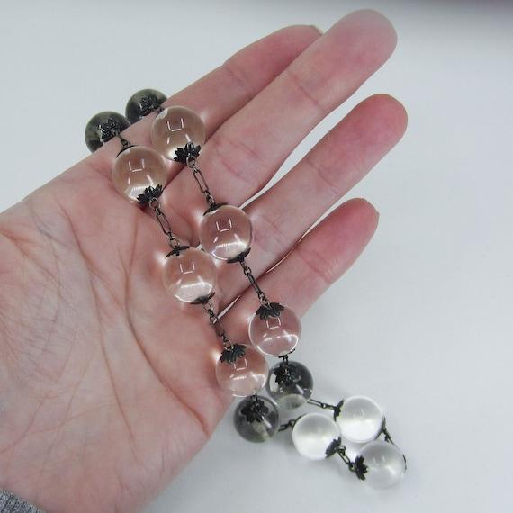 Art Deco Pools of Light Rock Crystal Necklace Ste… - image 7