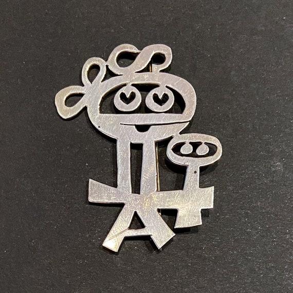 Mik Stousland Vintage American Sterling Pin