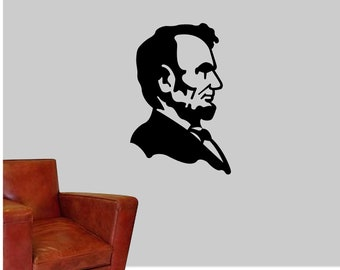 abe lincoln decal etsy