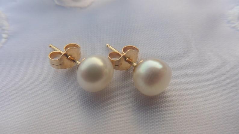 Real Pearl earstuds bride jewelry wedding jewelry wedding image 0
